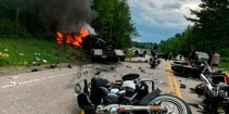 A Truck driver charged with 7 counts of negligent homicide in a gruesome  crash that killed motorcyclists